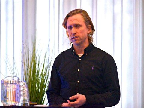 Torsdag arrangeres Kongsberg-konferansen på nett. Her ser vi Sverre Engelstad, prosjektleder for Vekst i Kongsberg, fra forrige konferanse, i januar 2020.