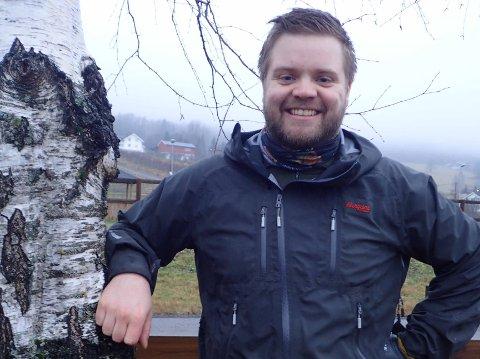 Glad: Anders A. Ringstad (26) fra Egge i Lier har nylig fått stipend på 50.000 kroner.