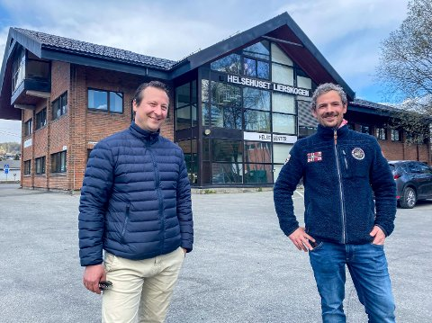 Satser på helse: Med lanseringen av Helsehus Lierskogen ønsker f.v. Nils Fredrik Jegersberg og Nicolai van der Lagen et enda større fokus på et helhetlig tilbud når de skal bygge et nytt helsebygg ved siden av det eksisterende.