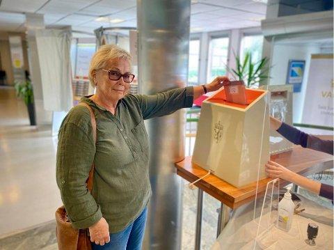 Forhåndsstemte: Anne-Grete Wold Hennum er en av de over 8500 liungene som har forhåndsstemt før årets valg.