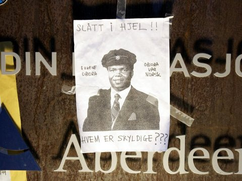 DØDE: Det utløste protester og fakkeltog da Eugene Obiora døde under en pågripelse i Trondheim høsten 2006.
