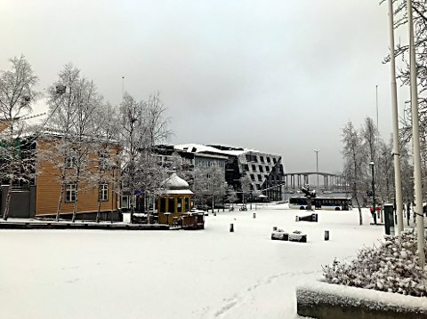 HER KOMMER VINTEREN: Den kalde fine tida er i gang i Tromsø.