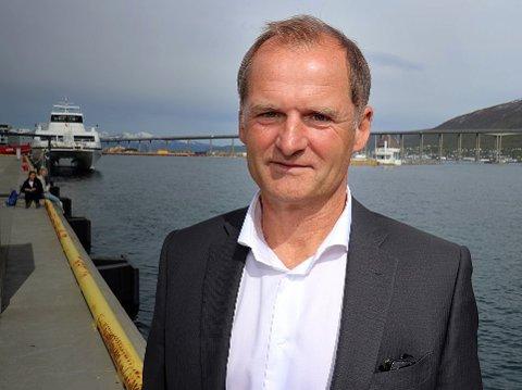 BEDRE SKILTING: - Vi er i ferd med å bestille mer universell skilting, slik som på flyplasser, opplyser havnedirektør Jørn-Even Hanssen. Foto: Torkil Emberland