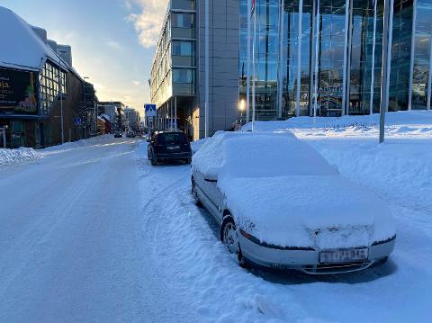 PARKERING: Bydrift ber om at folk parkerer ordentlig i sentrum.