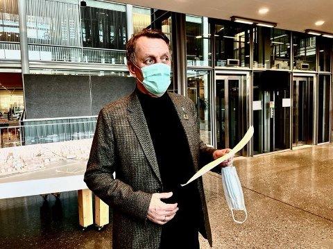 KARANTENEKLAR: Ordfører Gunnar Wilhelmsen har oppfordret regjeringa til å innføre utreiseforbud fra områder med høyt smittenivå.