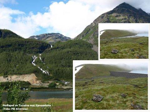 Slik skulle vannet demmes opp over Stordalen. Illustrasjon fra konsesjonssøknaden.