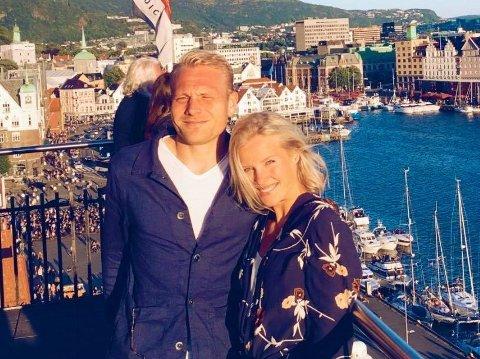 SPESIELL HVERDAG: Henrik Kjelsrud Johansen og samboeren Benedicte er begge idrettsutøvere, som må leve et svært spesielt liv i et område hvor det de siste ukene har vært et større koronautbrudd.