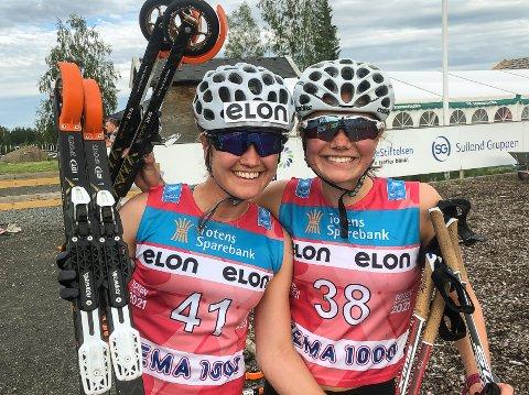 SØSTERDUELL: Tuva (t.v.) og Hedda Bakkemo møttes i konkurranse før aller første gang - og da viste storesøster seg best.