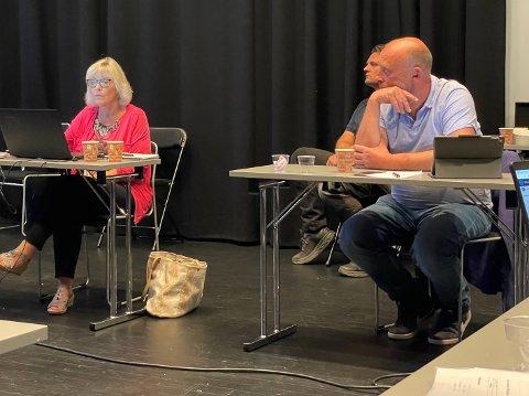 STERKE PÅSTANDER: Venstres Karin Frøyd ville ha med seg planutvalget på å vedta at Arch eiendom AS har solgt samme eiendom to ganger. Det ville ikke Tor Kåre Hansen Odberg (Frp), eller de andre, være med på.