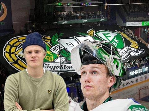 Martin Johnsen (17) har allerede rukket å sjarmere hockeygale supportere i Karlstad med sin uredde spillestil. I kveld møter han og norske Henrik Haukeland Djurgården i mektige Löfbergs Arena.