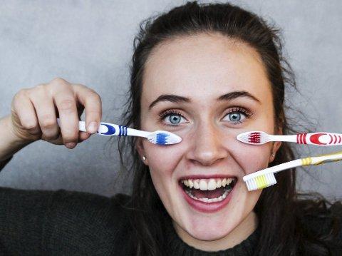 Synne Bekkeheien Grønseth (18) er én av 24,3 prosent av 18-åringene i Ringerike kommune som aldri har hatt hull i tennene.