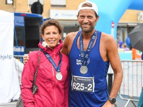 SUVERENT PAR: Diana Strømmen og Richard Larsson løp fra alle i parmaraton mix-klassen