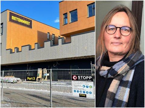 GJENÅPNET: Kommuneoverlege Karin Møller tok avgjørelsen om å stenge ned byggeplassen på Heradsbygda omsorgssenter tidligere i februar. Nå er byggeplassen åpnet opp igjen.