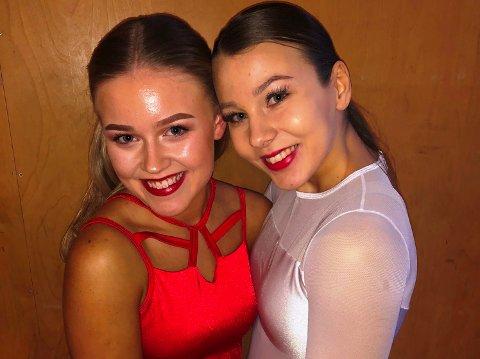 LOVENDE: Fredrikke Fabienne Fredheim vant sin klasse. Her står hun sammen med Hedda Elise Berthelsen.