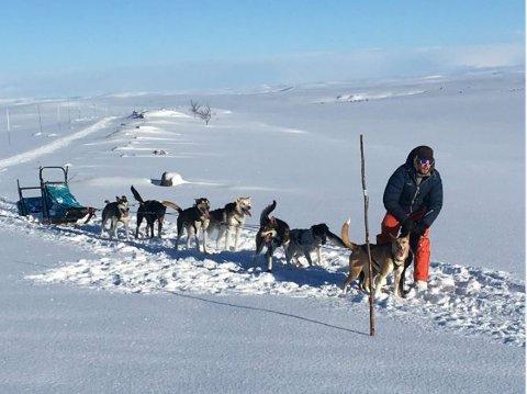 Daniel Haagensen (32) fra Tomter skal for første gang være deltaker i Finnmarksløpet. Foto: Privat