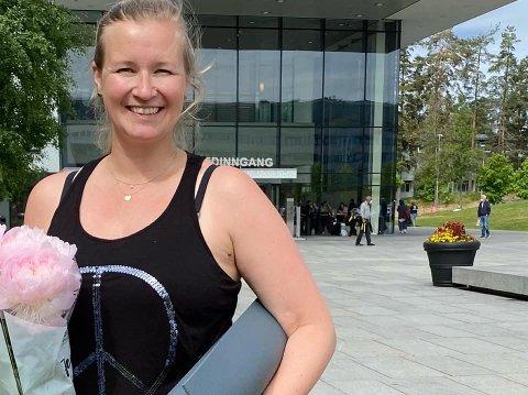 Maria Carlsson er utdannet yogainstruktør og vil tilby nybakte mødre i Askim barselyoga