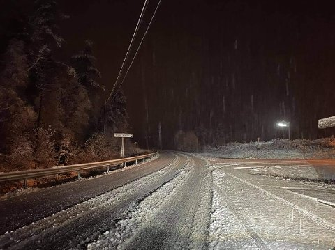 HEGGMYRANE: Slik såg det ut ved Heggmyrane i Indre Hafslo tysdag morgon.