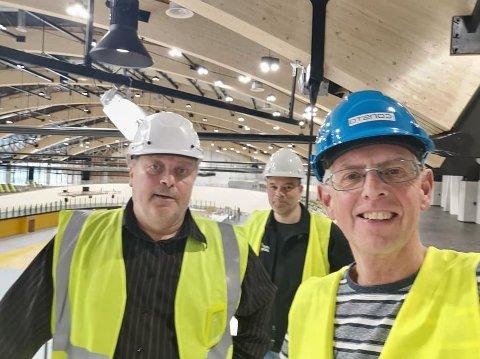 Rolf Morgan Hansen (t.v.) sammen med Stig Horvei og Tor Helge Skretting.