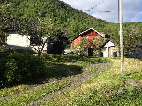 LANDLIG IDYLL: Her får du både hus og låve for under 500.000 kroner. Her kan du dyrke dine egne grønnsaker.