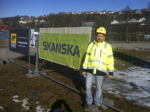AVDEKKET: Organisasjonsmedarbeider Rune Tønnesen ved Fellesforbundet Telemark avdekket Skanskas brudd på spillereglene ved Klosterøya.FOTO: DAG TINHOLT