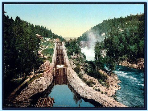 HISTORISK: Vrangfoss sluser har imponert mange med sin ingeniørkunst.