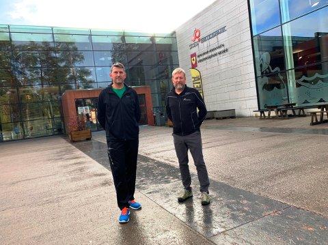 KREVENDE: 2020 er blitt et krevende år for Skien fritidspark, bekrefter styreleder Harald Haraldsen og daglig leder Jens Petter Aas.