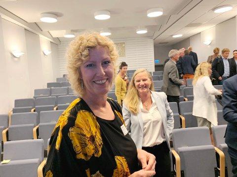 SLO AN: Regiondirektør i NHO, Kristin Saga, strålte som ei sol da arrangementet i Herøya industripark var vel overstått fredag formiddag. NHO har formidable ambisjoner, og deltagerne lot seg engasjere.
