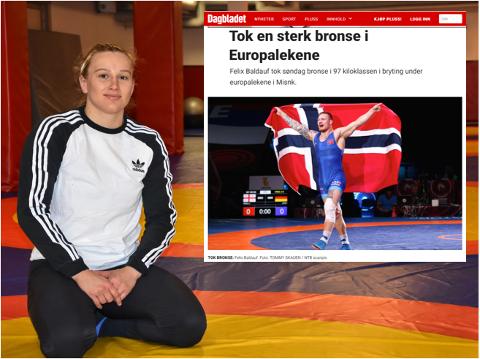 OVERSETT: Iselin Moen Solheim (23) føler seg oversett etter måten media har dekket European Games. Felix Baldauf og Iselin tok begge bronse, men sistnevnte blir knapt nevnt.