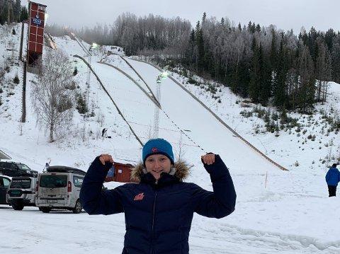 NM-GULL: Heidiu Duhre Traaserud tok NM-gull i juniorklassa i Rena i dag. Det er Heddals og Telemarks første NM-gull noensinne for kvinner.