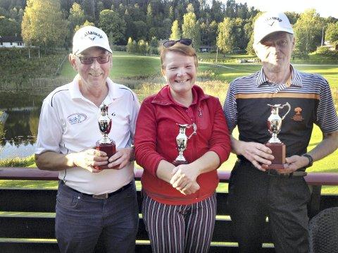 Eilif Solheim, Sirpa Skomsøy og Lars Mork var best i golf.