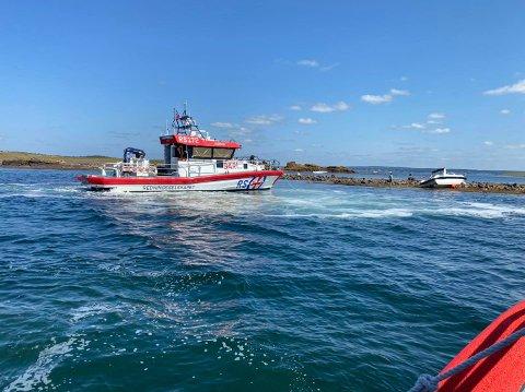 SKØYTE: Redningsskøyta Eivind Eckbo måtte bistå på et redningsoppdrag på andre siden av fjorden.