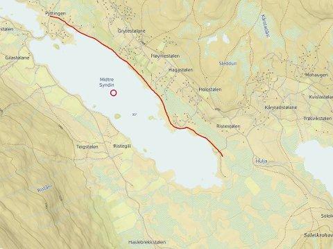 Turveg: Planen er i alt fire kilometer med opparbeidet turveg langs Midtre Syndin, mellom Pyttingen og Ristestølen.