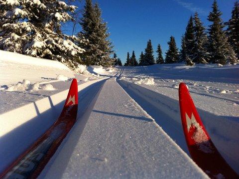 Skispor: Det er køyrd opp kilometervis med skiløyper i Valdres, slik at det er lett å koma seg ut på tur.