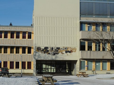 NITTEDALS VGS.: Bjertnes videregående skole ble utsatt for innbrudd. (Arkivfoto)