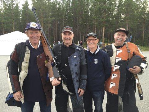 Fjerdeplass: Follo-laget som tok fjerdeplassen i lagskytingen besto av Kurt Arne Berglund, Odd Petter Nythe, Ivar Liseter og Torfinn Gaustad.Alle foto: Monica Saxebøl