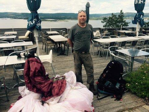 Gikk bra: Rune Bucher slapp unna med skrekken etter uhellet ved Vardentoppen.