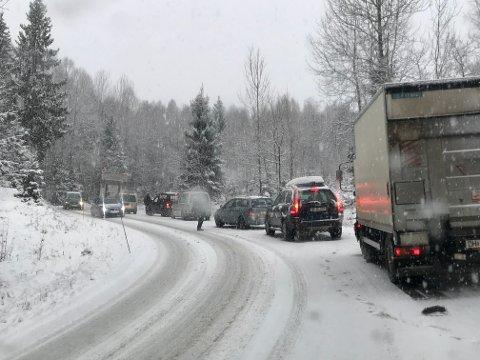 Vinter: I Bunnebakkene blir det hvert år kaos når snøen melder sin ankomst. Arkivfoto: Leserbilde