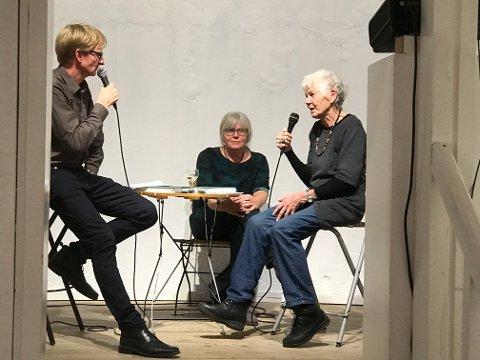 Intervjuer: NRK-journalist og nesodding Sjur Sætre intervjuer forfatter Kathrine Geard og kunstner Ingrid J. Ousland.