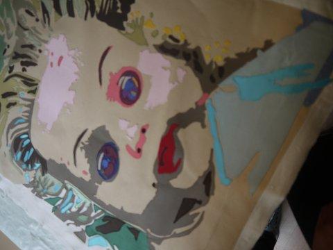 Et av dukkeportrettene som Gitte nylig har produsert.