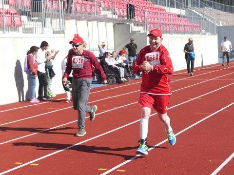 Full fart for gutta boys på 50-meteren.