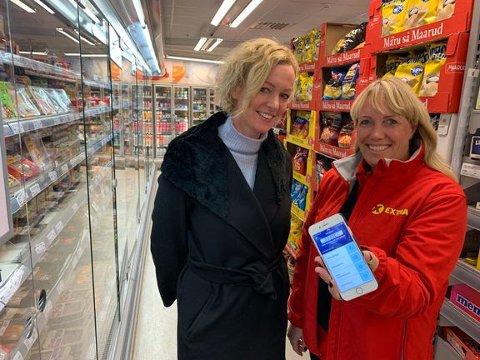 Viseadministrerende direktør Gøril Joys Johnsen (t.v.) i Coop Norge og regionsjef Hege Abrahamsen i Extra gleder seg til at den ombygde butikken i Bogstadveien står klar i løpet av første halvår 2019. Foto: Coop