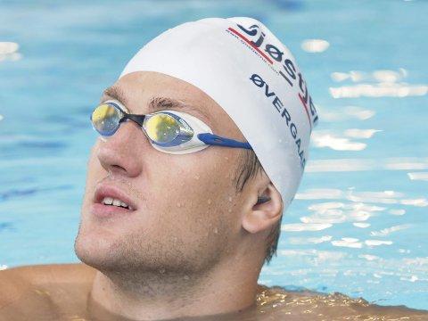 Tett på: Gard Øvergaard var tett på å komme til finalen på 50 meter butterfly under NM. Sjøstjerna-gutten ble som best nummer fire på kortbane NM i fjor.Foto: Christian Michaelsen