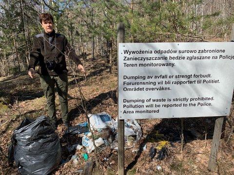 Store mengder med søppel fant Hilde Lafjell denne uken.