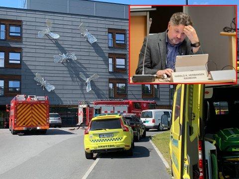 USIKKER PÅ HVA SOM TRIGGET ALARMEN: Frogn kommune og rådmann Harald Hermansen er usikker på hvorfor brannalarmen på Ullerud Helsebygg gikk av.