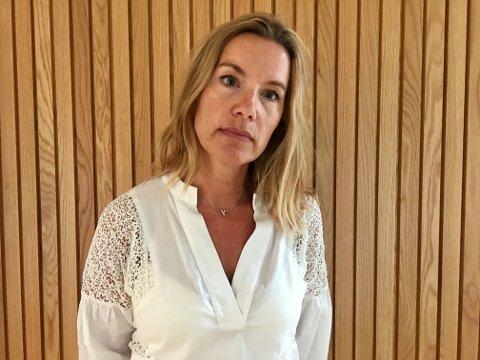 UAKSEPTABELT: Cathrine Kjenner Forsland tar sterk avstand fra taggingen av hakekors som har blitt observert på Nesodden den siste tiden.