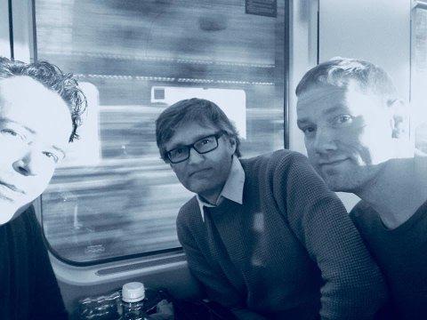 På vei mot Drøbak: Ruben Eiksund, Niklas Arnesen og Ronnie Mag Larsen kommer til Smia torsdag 19. september.