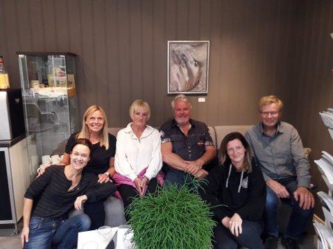 Arrangementskomiteen: (f.v.) Oddrun Valestrand, Jane Kristiansen, Kitty Henriksen, Jan Kilemo, Trine Oppegård Persson og Alf Berggren.