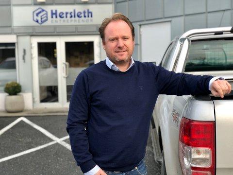 Nok å gjøre: – Det viktigst er ikke omsetningen for vår del, men at vi er en økonomisk sunn bedrift med trygge arbeidsplasser, sier Reinert Hersleth i Hersleth Entreprenør AS.