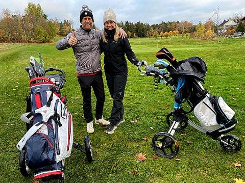 FRA OSLO: Jorun Hauge og Ludvik Heien Pettersen kom fredag til Drøbak for å spille golf. FOTO: Ole Jonny Johansen