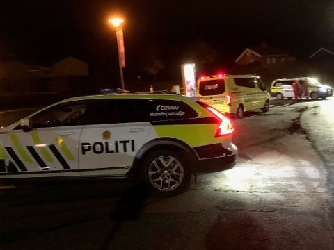 Dramatiske scener fra Vinterbro sent fredag kveld. Foto: Ivar Ruud Eide